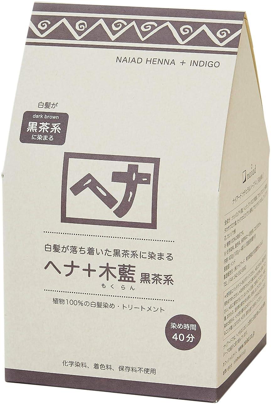 懐疑的傘複数Naiad(ナイアード) ヘナ+木藍 黒茶系 400g