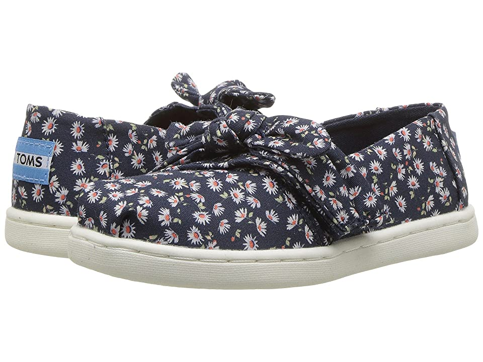 TOMS Kids Alpargata (Infant/Toddler/Little Kid) (Navy Ditzy Daisy/Bow) Girl