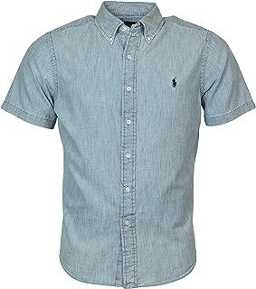 Men's Chambray Short-Sleeve Woven Shirt