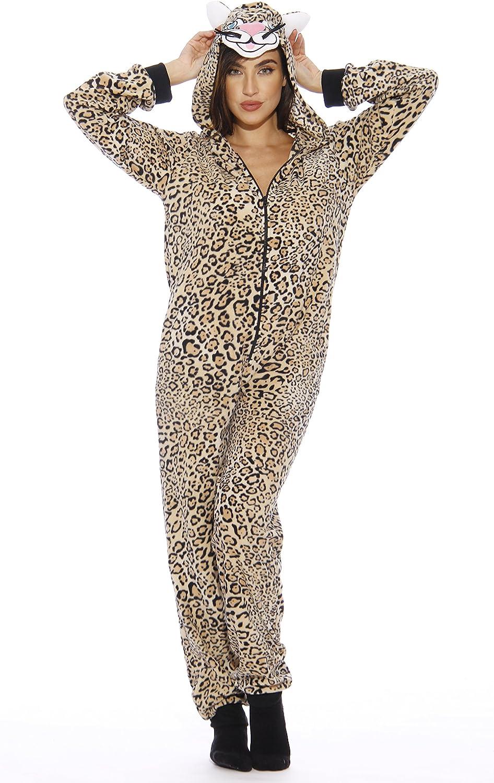 Just Love Animal Print Microfleece Adult Onesie One-Piece Pajamas
