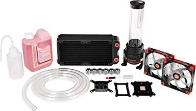 Thermaltake Pacific DIY LCS RL240 D5 Red/Pump Red Luna Fan Water Cooling Kit CL-W063-CA00BL-A