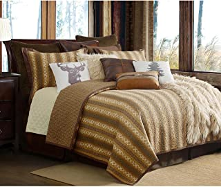 HiEnd Accents QL1805-FQ-OC 3-PC Reversible Hill Country Quilt Set, Full/Queen