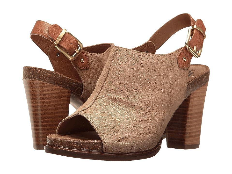 Sofft Cidra (Light Gold/Cognac Metal Wash/Goat Vachetta) High Heels
