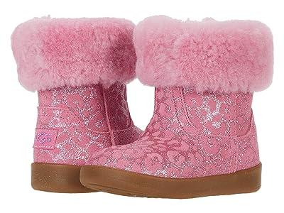 UGG Kids Jorie II Glitter Leopard (Infant/Toddler) (Wild Berry) Girls Shoes