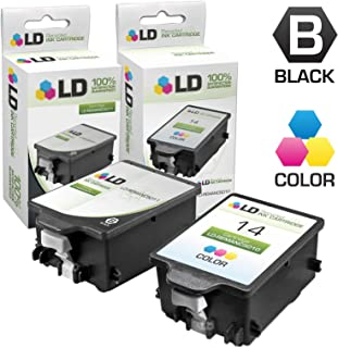 LD Remanufactured Ink Cartridge Replacements for HP 14 C5011DN & C5010DN (1 Black, 1 Color, 2-Pack)