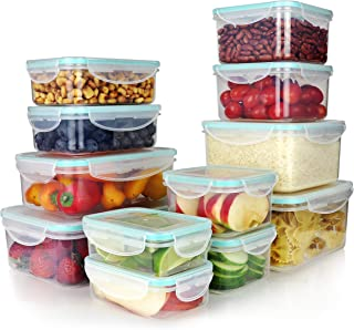 Vallo Plastic Food Containers with Lids for Food Storage - Safe for Dishwasher, Microwave, and Freezer - BPA Free, Perfect for Meal Prep [24 pc set]