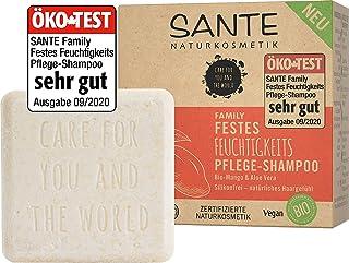 SANTE Naturkosmetik Festes Shampoo für trockenes Haar, Vegane Formel mit Bio-Aloe Vera und Mango, Festes Feuchtigkeits-Sha...