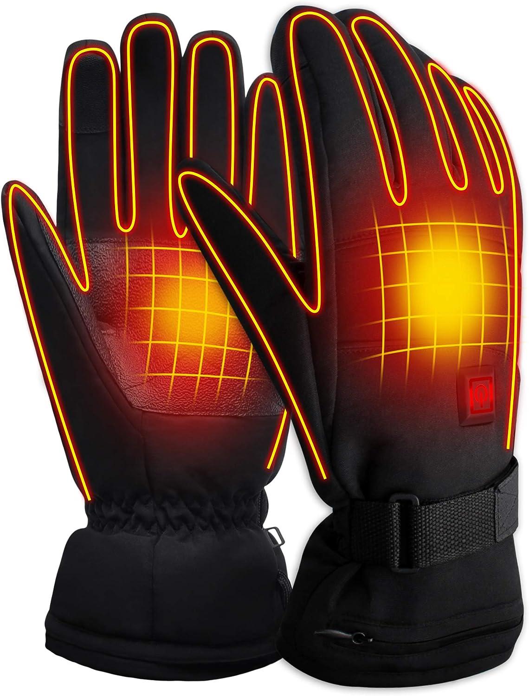登場大人気アイテム SVPRO Heated Gloves 定番スタイル 3 Heat Battery Rechargeable Powered Settings