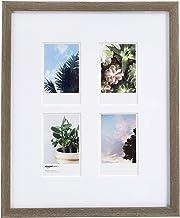 """AmazonBasics Photo Frame for use with Instax - 4-Opening - 3.25""""x2"""", Barnwood"""