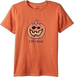 Life is Good Kids - Jack O'Lantern LIG Crusher Tee (Little Kids/Big Kids)