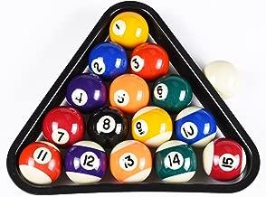 T&R sports USA Mini Pool Balls Set, 1.5-Inch Billiard Balls Set with Triangle Rack
