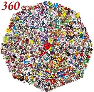 QWDDECO Sticker Pack (360 PCS) Vinilo Pegatinas para portátiles botellas de agua equipaje monopatín PS4 Xbox one Iphone los mejores regalos para adultos adolescentes niños y niñas.Calcomanías