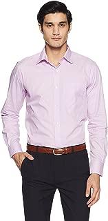 Raymond Men's Solid Regular Fit Cotton Formal Shirt
