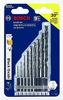 Bosch BL9IM 9 Pc. Impact Tough Black Oxide Drill Bit Set,
