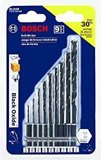 Bosch 9 Piece Black Oxide Impact Tough Drill Bit Set BL9IM
