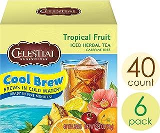 Celestial Seasonings Cool Brew Iced Tea, Tropical Fruit, 40 Count per box, Pack of 6