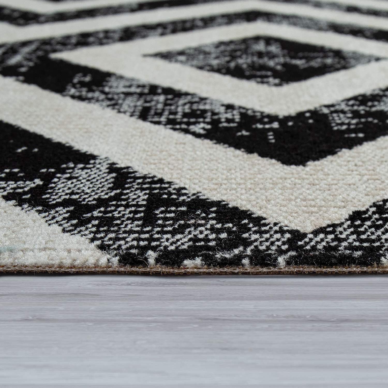 Amazon.de Paco Home In  & Outdoor Teppich Flachgewebe m. modernem ...