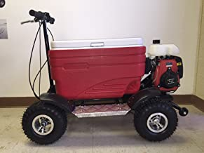 Crazy Coolers RED 4Stroke Motorized All Terrain 49CC Cooler w/Wheelie Bar