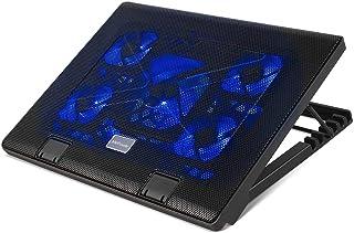 Base de Refrigeración para Portátil Radiador MVPOWER de Laptop con 5 Ventiladores y 2 Puertos USB Velocidad del Ventilador Ajustable (12-17 Pulgadas)
