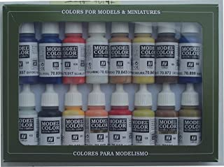 Vallejo 70147 Model Color American Colonial Acrylic Paint Set - Assorted Colours (Pack of 16)