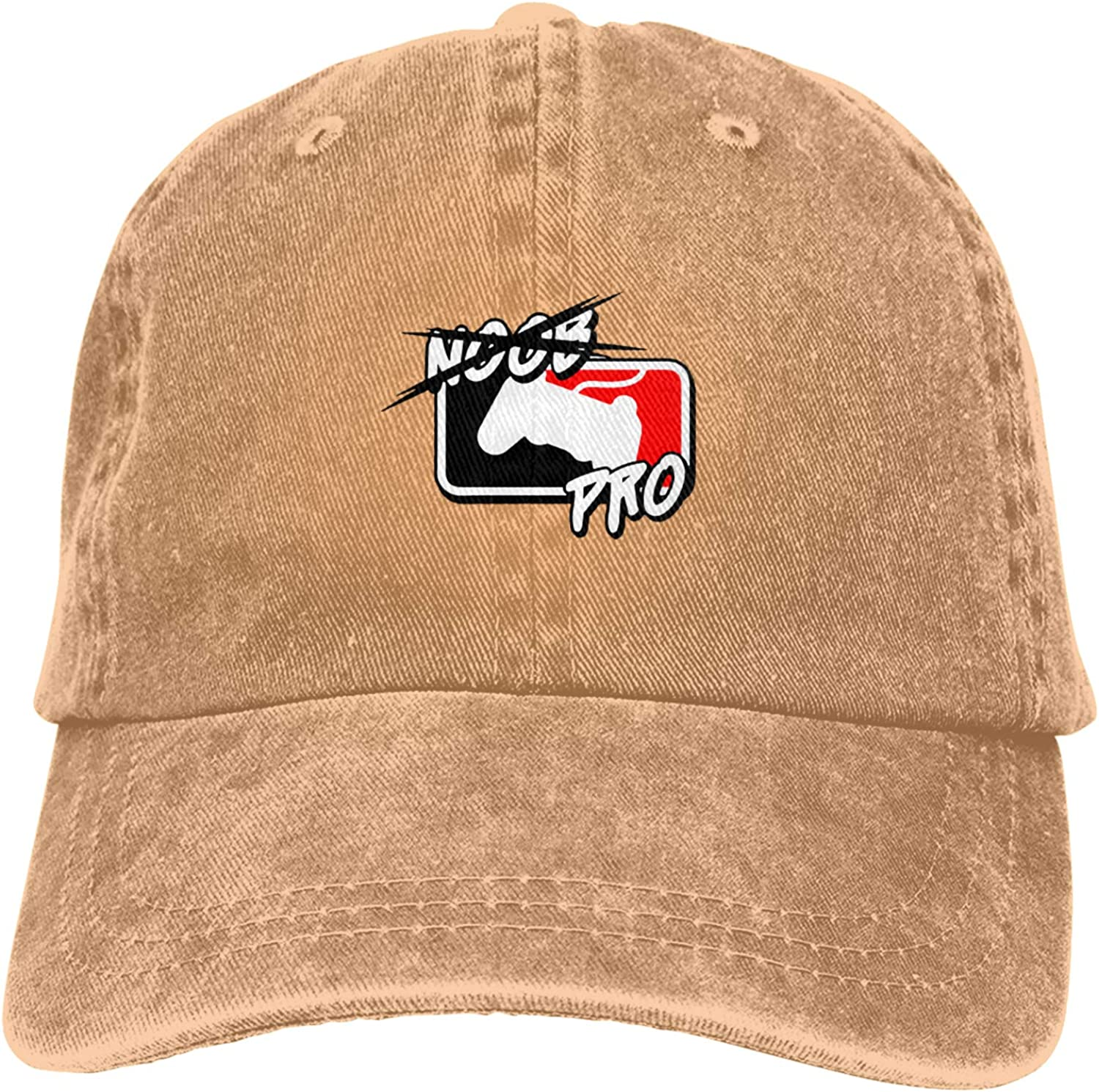 from Noob to Pro Unisex Adjustable Cowboy Hat Adult Cotton Baseball Cap