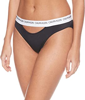 Calvin Klein Jeans Women's CLASSIC BIKINI Bikini Bottoms, Black (Pvh Black BEH), X-Small