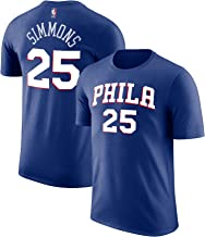 Outerstuff NBA Youth Performance Game Time Team Color Player Name Number Jersey T-Shirt (Medium 10/12, Ben Simmons)