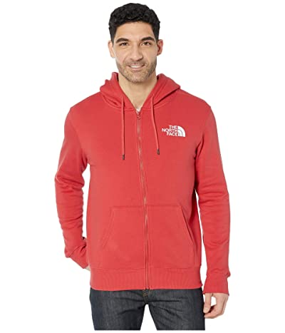 The North Face Half Dome Full Zip Hoodie (Sunbaked Red) Men