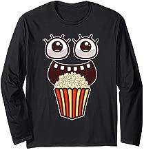 Kawaii Eyes Popcorn Monster Movies Pop Corn Costume Gifts Long Sleeve T-Shirt