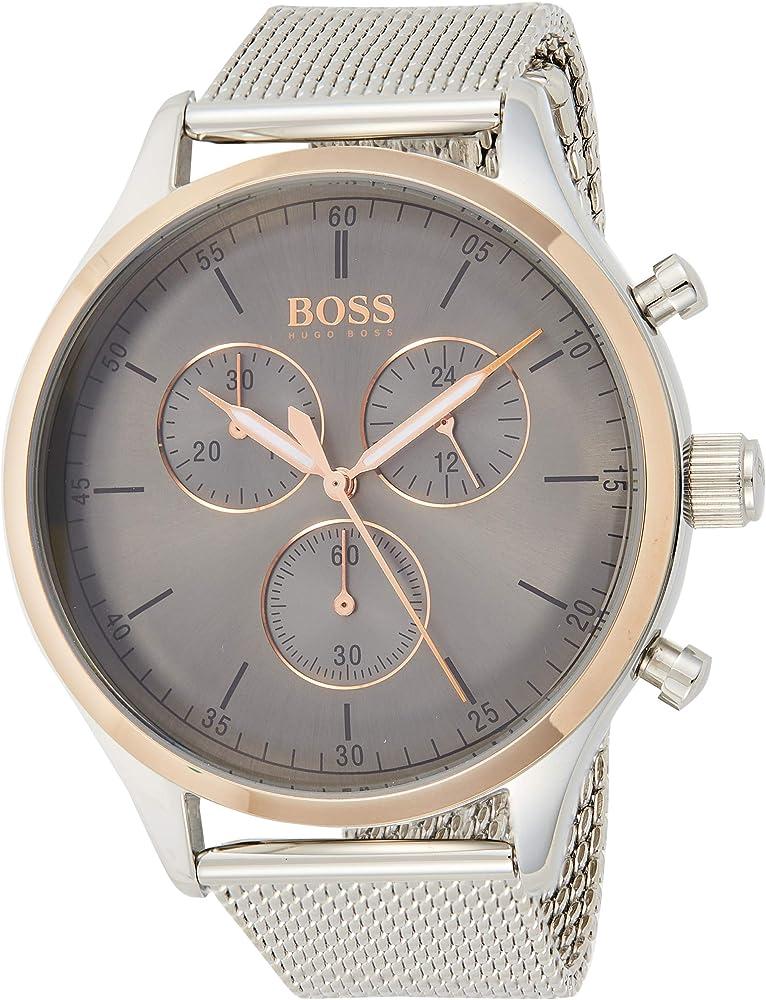 Hugo boss,orologio,cronografo per uomo,in  acciaio inossidabile 1513549
