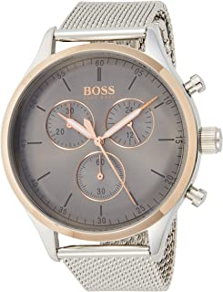 Hugo Boss Companion Men's Grey Dial Stainless Steel Chronograph Watch - 1513549