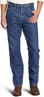 Wrangler Men's Big Riggs Workwear Relaxed Fit Jean, Medium Fade, 52x30