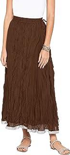 Globus Solid Flared Ethnic Skirt