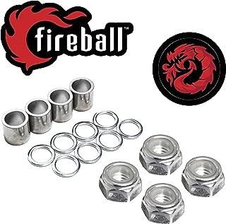 Fireball Dragon Precision Truck Hardware | Axle Nut, Kingpin & Nut, Speed Kits for Skateboard & Longboards