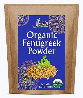 Jiva Organic Fenugreek Powder 1.5LB Bulk Bag - Non-GMO (Methi Powder, Fenogreco)