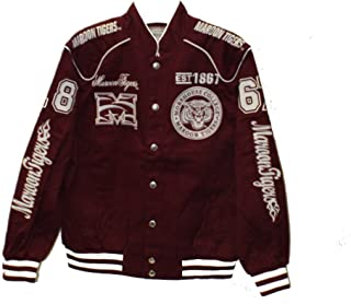 Big Boy Gear Morehouse Tigers Crest and EST Date on Snap Racing Jacket