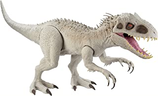 Jurassic World Camp Cretaceous Super Colossal Indominus Rex 18-in High & 3.5 Ft Long, Movable Arms & Legs, Swallows 20 Min...