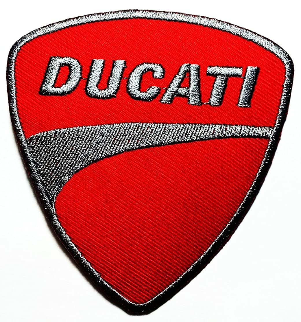 Ducati service Motorcycles Biker Racing Sport logo patch Jacket T-shirt Sew Iron on Patch Badge Embroidery