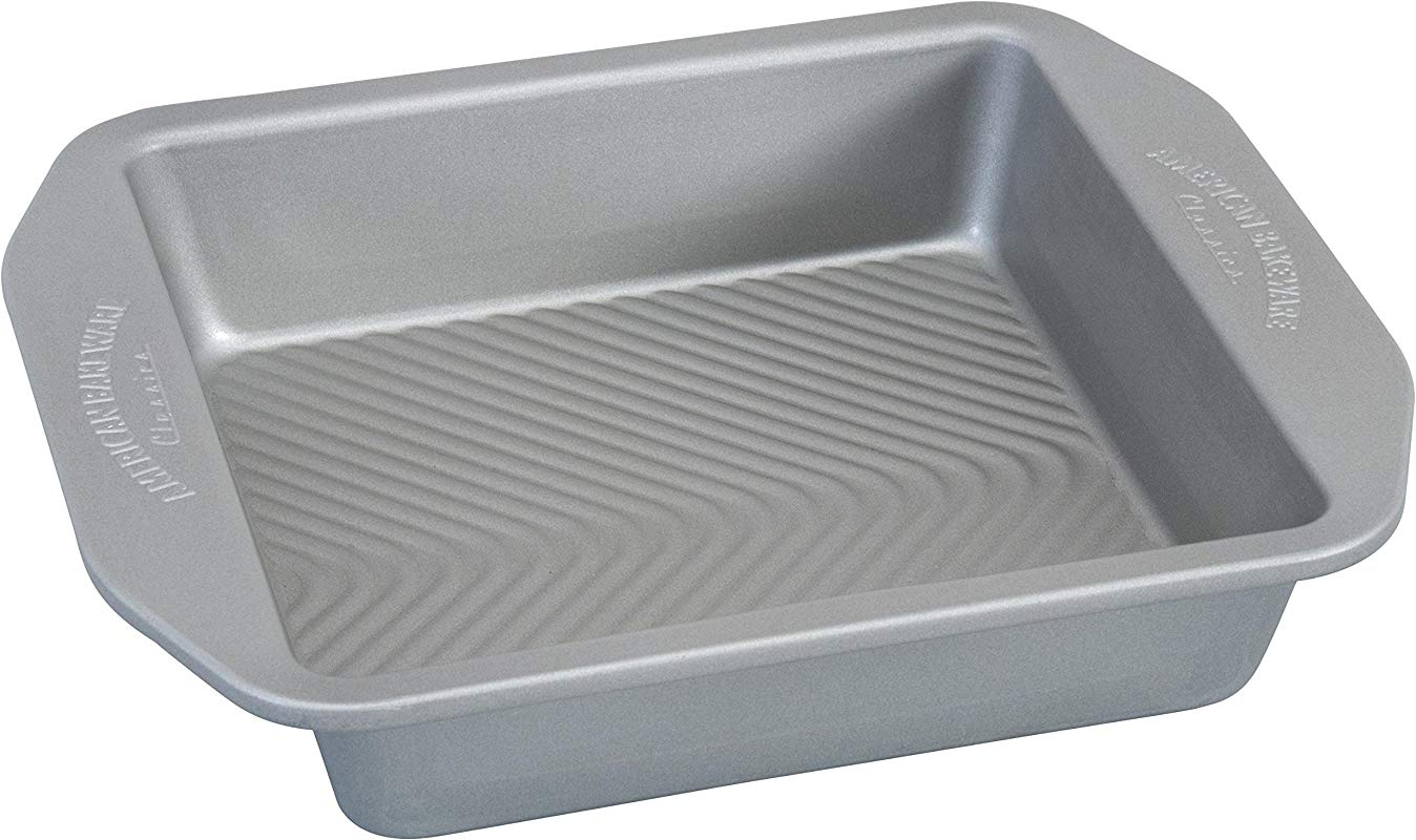 USA Pan 1120BW 2 ABC American Bakeware Classics 8 Inch Square Baking Pan Aluminized Steel