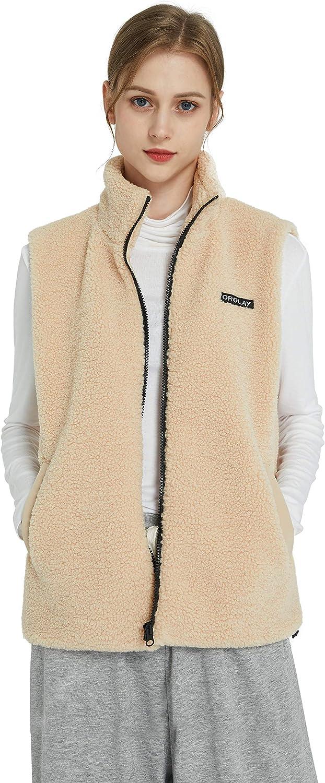 Orolay Women's Ultra Lightweight Down Vest Stand Collar Winter Coat