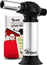 Jo Chef Kitchen Torch, Blow Torch - Refillable Butane Torch With Adjustable Flame & Safety Lock- Culinary Torch, Creme Brûlée Torch For Cooking Food, Baking, BBQ & More + FREE Recipe E-Book