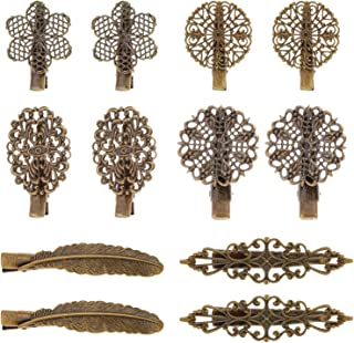 Pangda 12 Pieces Vintage Hair Clips Pins Hair Barrettes Clamps Hair Accessories for Women and Girls, 6 Styles