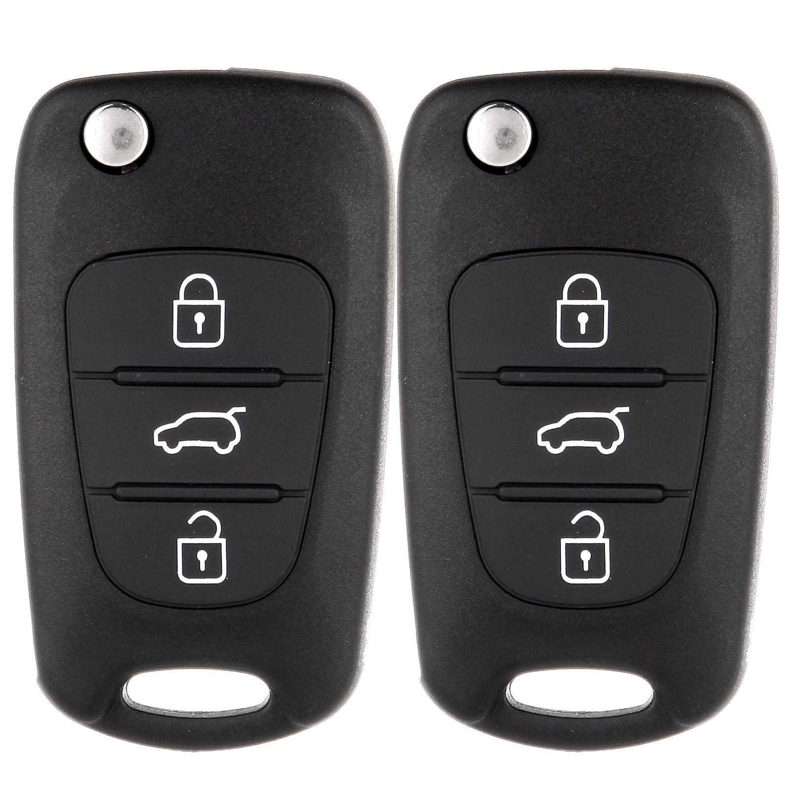 2 Button Car Remote Key Shell Case Fob Fit for KIA Sportage 2005-2010