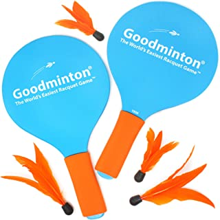 VIAHART Goodminton   The World`s Easiest Racket Game   an Indoor Outdoor Year-Round Fun Racquet Game for Boys, Girls, and People of All Ages