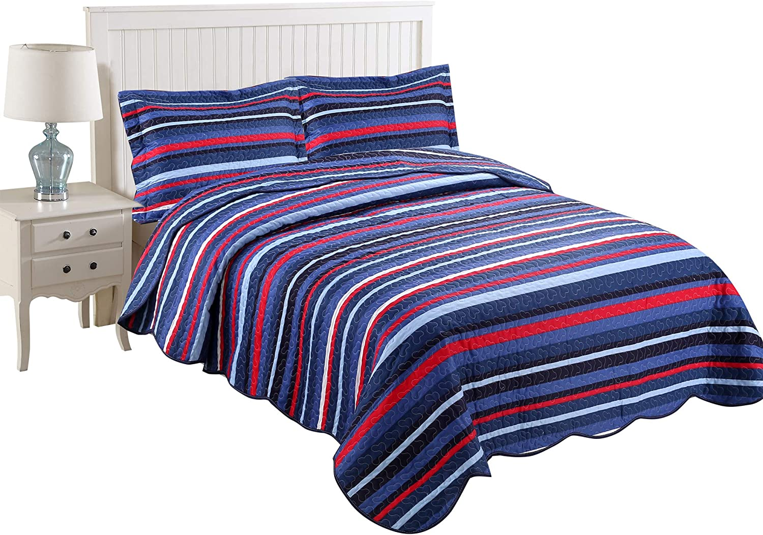 MarCielo 3 Colorado Indefinitely Springs Mall Piece Kids Bedspread Quilts Blanket for Set Tee Throw