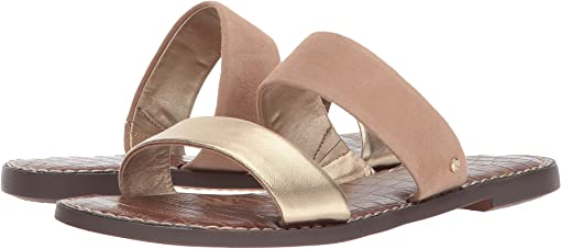 Gold/Nude Metallic Leather/Suede Leather