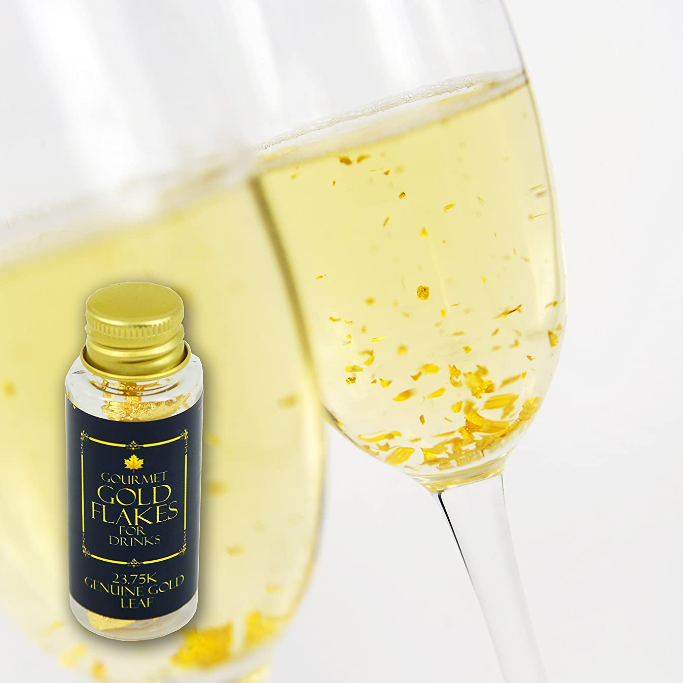 Edible Genuine Gold Leaf for Drinks - by Barnabas Blattgold - 2 Pack