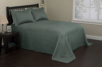 S. Lichtenberg Co. Venice,  60-Percent Polyester,  40-Percent Cotton Twin Bedspread Set,  Mineral