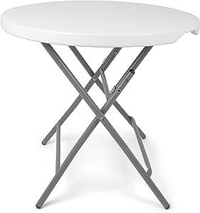 Vanage mesa de jardín plegable, blanco
