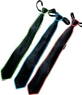 MySweetCorner Krawatte Party Leuchtende Krawatte mit LED Beleuchtung Partykrawatte Kostüm Karnevalskostüm Herrenkostüm (Blau)